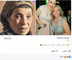 رجاء حسين وشبيهتها