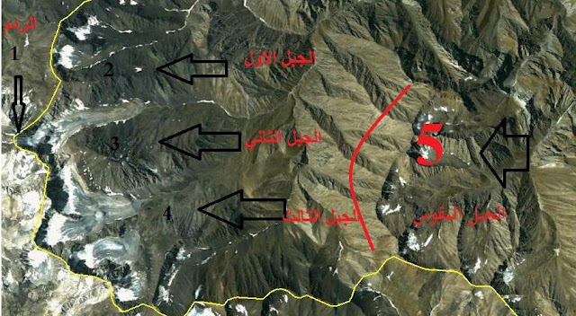 خريطة موقع يأجوج ومأجوج
