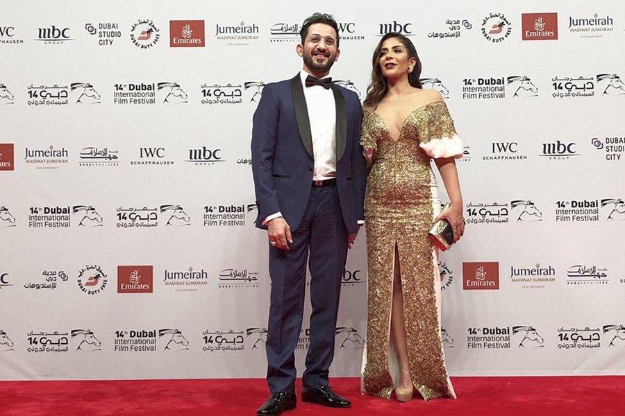 منى زكي وزوجها أحمد حلمي