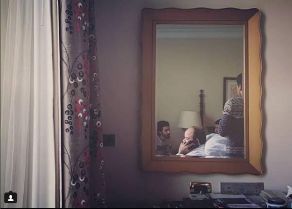 محمد عبد الرحمن خلال استعدادات الفرح
