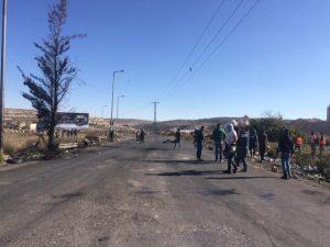 الاشتباكات بمدينة البيرة الفلسطينية