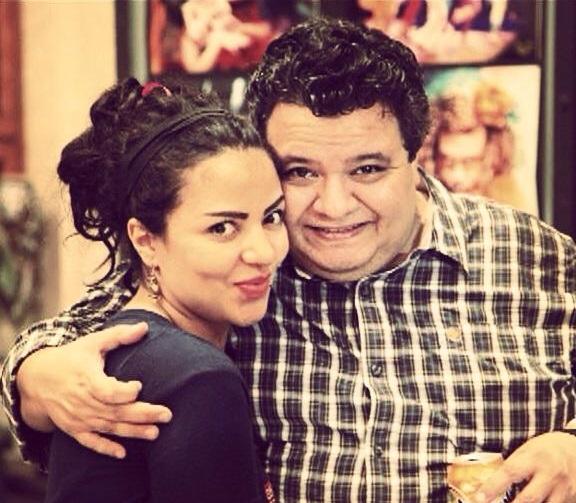 ألاء علي مع المخرج المسرحي خالد جلال