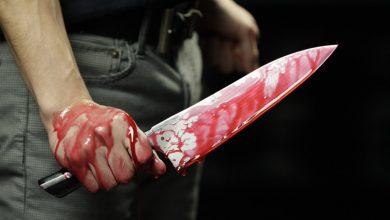 ذبح زوجته بالسكين