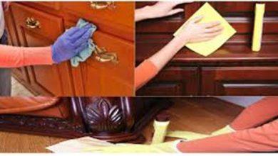 تنظيف وتلميع الاثاث و الموبيليا الخشب