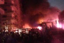 حريق داخل مصنع إسفنج