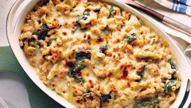 بالمقادير والخطوات.. طريقة عمل المكرونة بالجبن الشيدر والسبانخ من المطبخ الإيطالي