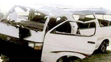 حادث انقلاب ميكروباص بطريق وادي النطرون