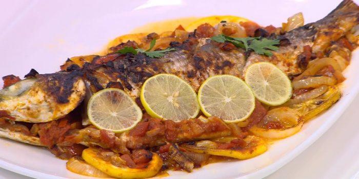 طريقة عمل السمك السنجاري مع أرز بسمتي بالجمبري والموتزريلا