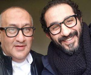 أحمد حلمى برفقة شقيقه
