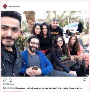 تامر حسي برفقة أحمد حلمى