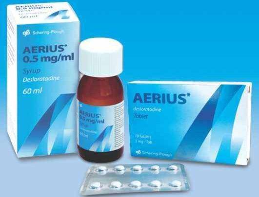 دواعي استعمال دواء أيريوس Aerius