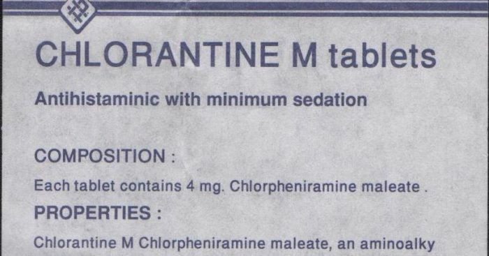 دواعي استعمال دواء كلورانتين-م Chlorantine-M