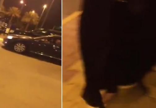سائق يتحرش بفتيات أمام مول