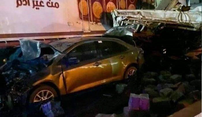 حادث تصادم كمين الحظر بالطريق الدائري